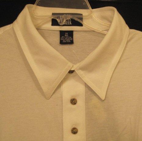 White Oak Creek Polo Golf Shirt S/S Size 3XL 3X 3XB Big Men's Clothing 922921