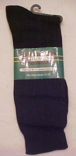 Big Mens Navy Socks Size 11- 16 Stretch Full Cut  RB701