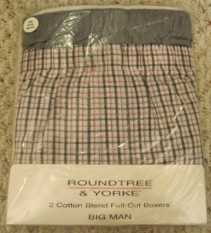 New Grey 2 pack Full Cut Boxers Size 52 Big Tall Men's Clothing 924591 2