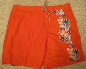New Orange Board SwimSuit Shorts Size 50 Big Tall Mens Clothing 926221