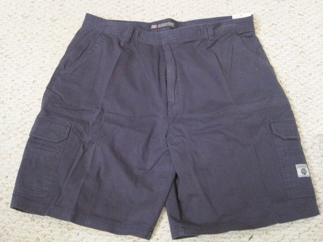 New Navy Blue Cargo SHORTS Size 44 Big Tall Men's Clothing 923241