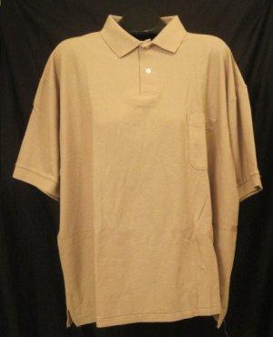 Khaki S/S Pull Over Shirt Size 3XL 3X 3XB Big Men's Clothing 923481