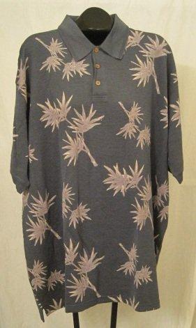 Murano Polo Shirt Pull Over Golf Collar Dark Leaf Size 3XLT 3XT Big Tall Men's Clothing 923711