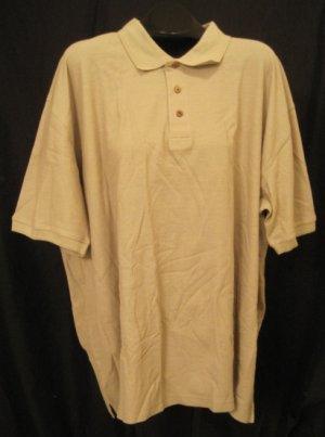 Caribbean Polo Shirt Pull Over Golf Collar Khaki Size 3XLT 3XT Big Tall Men's Clothing 923721