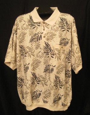 Leaf Design Oak Creek S/S Pull Over Shirt Size 2XL 2X 2XB Big Men's Clothing 923731 2