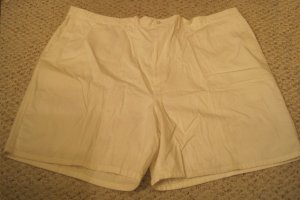 NEW White Flat Front Shorts Elastic Waist Size 54 Big Tall Mens Clothing 926691