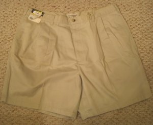 NEW String Pleated Front Shorts Size 40 Big Tall Mens Clothing 926481