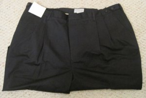 New Pleated Front Pants Size 48 X 34 Dark Navy Big & Tall Men Clothing 923561