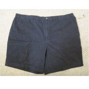 New St. John's Bay Navy Blue Walking Shorts Size 52 Big Tall Mens Clothing 927541