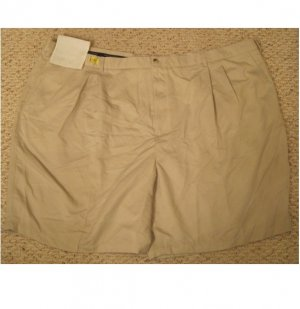 New Pleated Front String SHORTS Size 54 Big Mens Clothing 927481