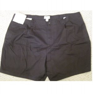 New Pleated Front Black SHORTS Size 54 Big Mens Clothing 927461