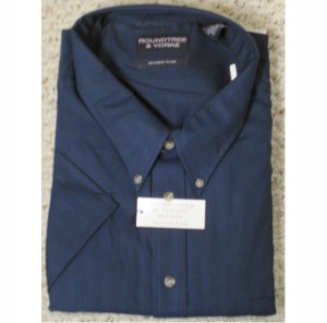 New BLUE Button Down Short Sleeve Wrinkle Free Shirt 5X 5XL 5XB Big Tall Men's Clothing 927581