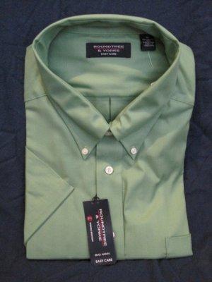 New Green Button Down Shirt S/S Size 3XT 3XLT Big Tall Mens Clothing 923851 3