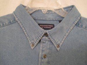 Light Denim Button Down Shirt Long Sleeve 3XLT 3XT Big Tall Mens Clothing 938201 2