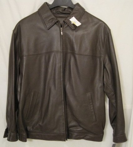 New Brown Lambskin Leather Bomber Winter Jacket Size 3xlt