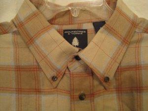 Tan Flannel Button Down Shirt Long Sleeve 2X 2XL Big Tall Mens Clothing 938531
