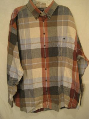 Flannel Button Down Shirt Long Sleeve 2X 2XL Big Tall Mens Clothing 938501 2