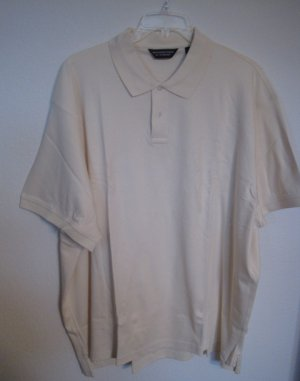 New Cream Polo Golf Shirt S/S Size 3XT 3XLT Big Tall Mens Clothing 925311