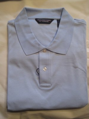 New Cerulean Blue Polo Golf Shirt S/S Size 3XT 3XLT Big Tall Mens Clothing 925501 2