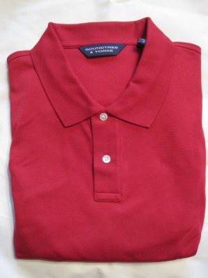 New Tartan Red Polo Golf Shirt S/S Size 3XT 3XLT Big Tall Mens Clothing 925531 2