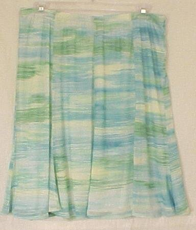 New Emme Sheer Flaired Skirt Size 3 22 24 Plus Size Women's Clothing 490091