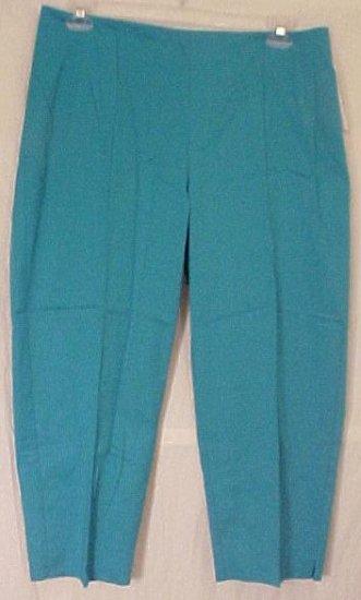 New Emme Blue Turquoise Capri Pants Capris Plus Size 22 Plus Size Women's Clothing 490231