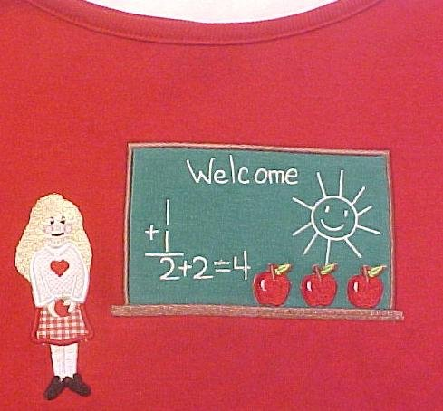 New Teacher Red Pullover Shirt Top Plus Size 3X Plus Size Womens Clothing 400121 2