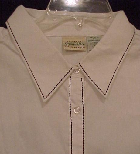 New Long Sleeve White Button Down Shirt Collar Size 2X Plus Size Women 400161-6