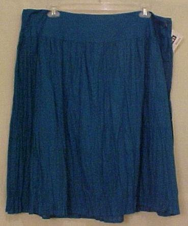 NEW Teal Broomstick Skirt Size 22W Plus Size Women Clothing H400201