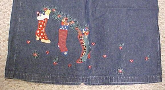New Denim Winter Christmas Stocking Long Skirt Size 16 Misses Clothing 400581