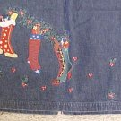 New Denim Winter Christmas Stocking Long Skirt Size 16 Misses Clothing 400581