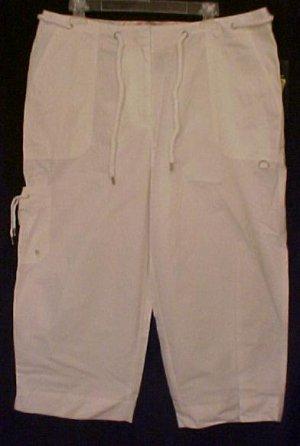 New Ralph Lauren White Capri Pants 14W Plus Size Women Clothing 400761