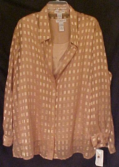 New Dressy 2 Piece Blouse Set Size 2X Plus Size Women Clothing 811001