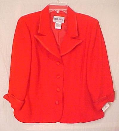 New 2 pc RED Suit Dress Jacket Plaza South  Size 12  - H811061