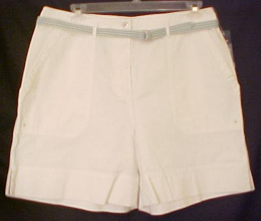 New Ralph Lauren WHITE SHORTS LOGO Plus Size 14W 14 Plus Size Clothing 811111