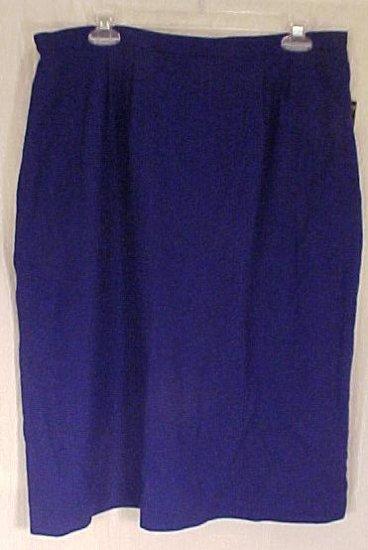 New Kasper Company Royal Blue Wool Skirt Size 16W 16 Plus Size Women's Clothing 811171