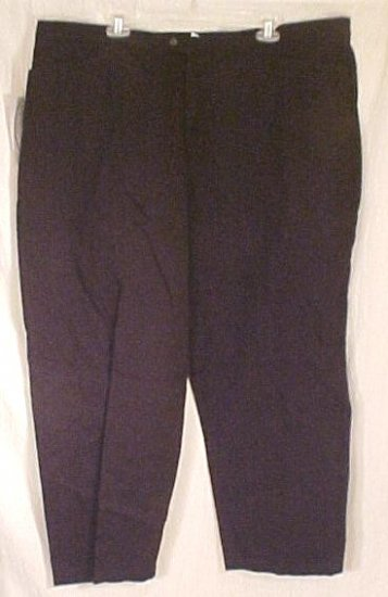 New Black Cotton Pants Slacks Size 24 24W Petite Plus Size Women's Clothing 811241
