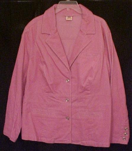 New Stretch Corduroy Blazer Jacket Size 26W 28W Plus Size Womens Clothing 811361-5