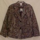 New Paisley Print Blazer Suit Jacket Size 26W 28W Plus Size Womens Clothing 811421-5