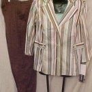 Suit Blazer Top Pants 3pc Plus Size Women 14 14W Plus Size Clothing 811211
