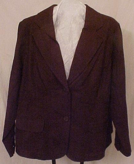 New Blazer Suit Jacket Stretch 22 24 Plus Size Clothing 811741-6