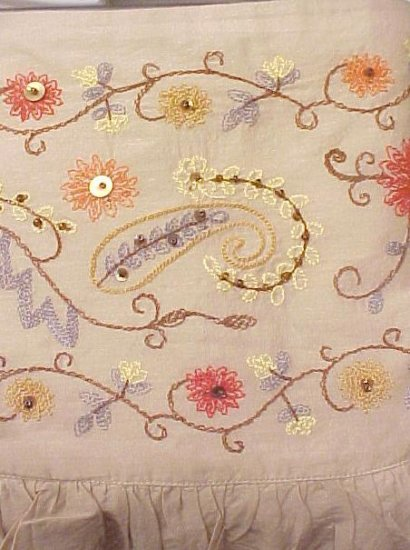 New Bohemian Style Skirt Tan Embroidered 20W 20 Plus Size Women Clothing 200111-2