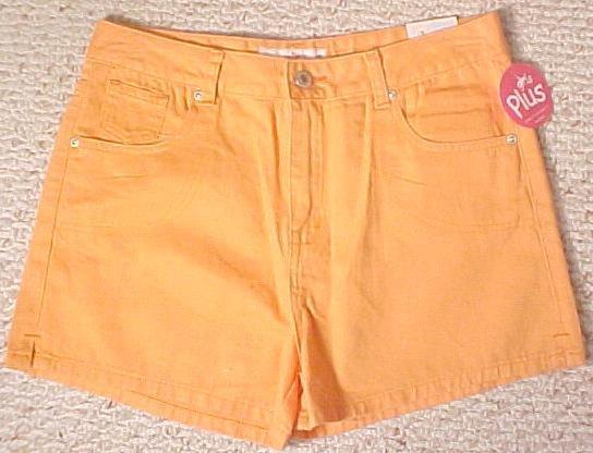 New Arizona Orange Shorts Size 16.5 16+ Plus Size Girls Fashions 200361
