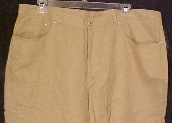 New Ralph Lauren Linen Tan Jeans Pants Plus Size 22 22W Plus Size Women Clothing 200581