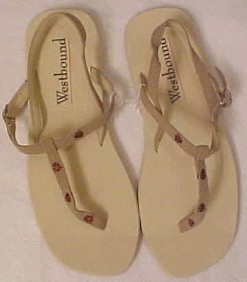 New Size XL 9.5 - 10.5 Tan Lady Bug Sandals Sandal Shoe 200631