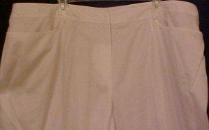 NEW Jones New York Silk White Capri Pants Size 24 Plus Size Clothing 24W Retail $109 201251