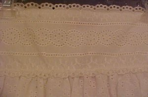 NEW Dorothee Bis Eyelet White Skirt Size 12 Retail $108 Fashions For Her 201391