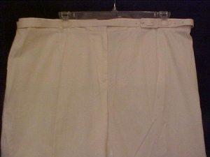 NEW Emma James White Dressy Capris Size 22W 22 Plus Size Women Clothing 201021