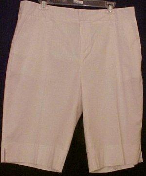 New Karen Kane WHITE Walking SHORTS Plus Size 16W 16 Plus Size Clothing 201041