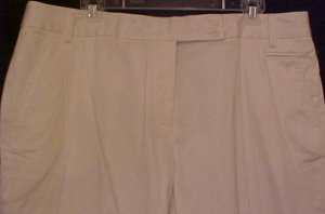 NEW Bianca NY Gard White Capris Size 16 Retail $98 Fashions For Her 201191